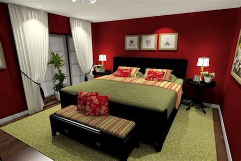 dark red paint bedroom red bedroom paint with green accents dark wood furniture