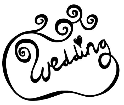Wedding Message Font free illustration wedding text font type message