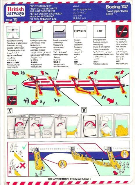 60 Best Aircraft Safety Cards Images On Pinterest