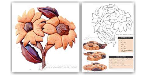 flowers intarsia patterns woodarchivist