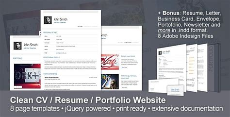 Resume Portfolio Website by Top List Of Free And Premium Resume Templates For Proper Cvs