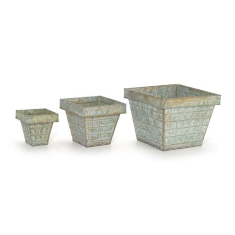 Small Metal Planter by Small Metal Planter Containers Set Of 3