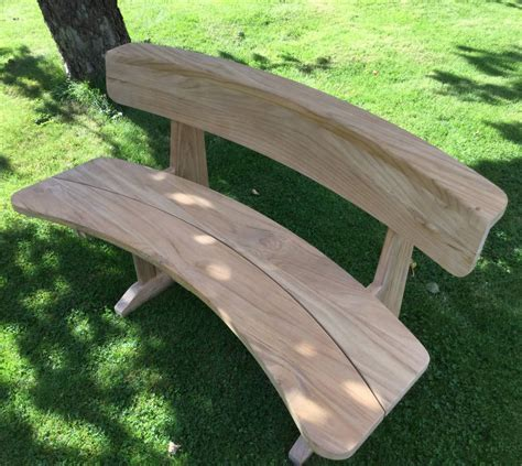 curved outdoor bench teak curved garden bench by blackdown lifestyle