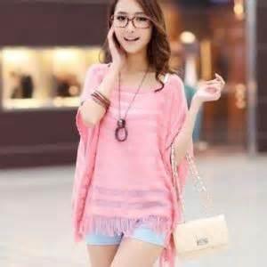 Shjt217122806445 Blouse Korea Knitted Blouse Black Khaki pink korean fashion hollow summer new knitting all
