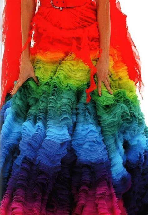 colorful stuff colorful stuff mcqueen rainbow shipwreck gown