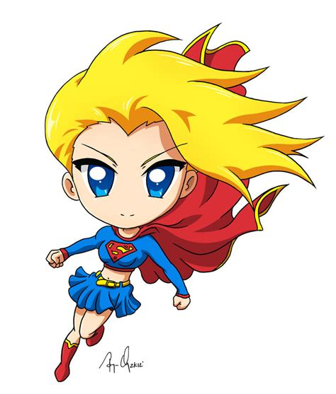 supergirl chibi digital colored by krnozine on deviantart