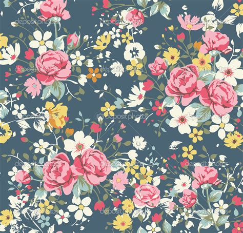 18 vintage floral wallpapers floral patterns depositphotos 23226584 wallpaper vintage rose pattern on