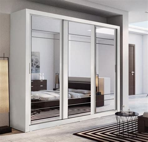 arti 2 white 3 sliding door wardrobe 250cm arthauss