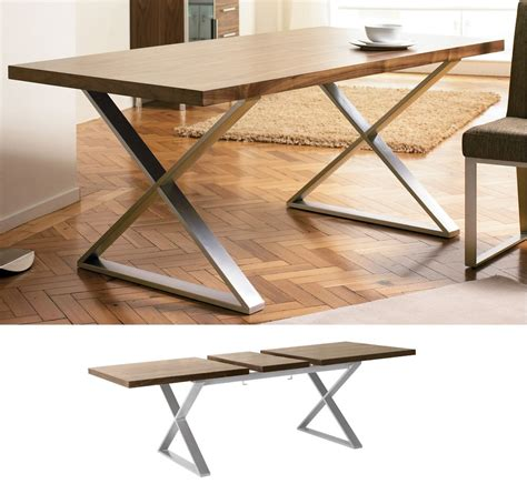 Crossed Leg Dining Table Dwell Crossed Leg Walnut Extendable Dining Table Dining Pinterest Extendable Dining Table