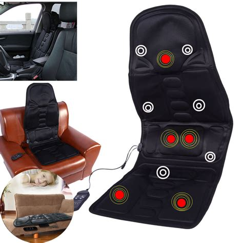 heat  massage chair car home seat cushion massager neck pain pad heater dy ebay