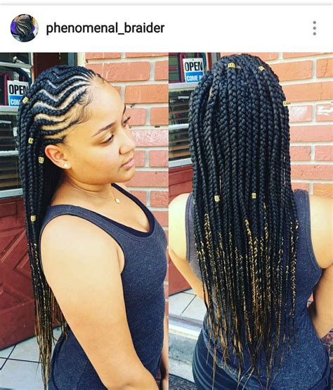 cornrow hair with unbraided ends might have to try this hair pinterest hair style