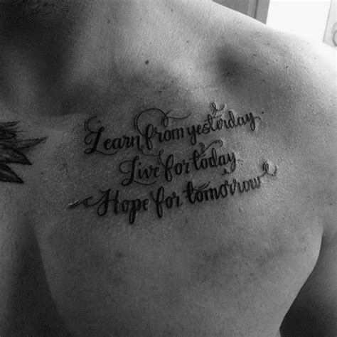 quote tattoo designs for men 50 chest quote designs for phrase ink ideas