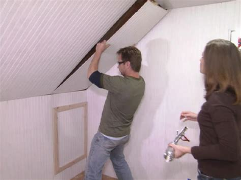 Attic Ceiling by Turn An Unfinished Attic Into A Walk In Closet Hgtv