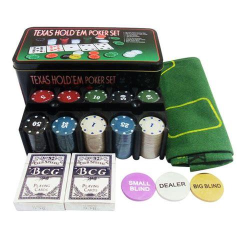 200 tells de pker set de poker kit para texas hold em 200 chips 2 barajas naipes poquer