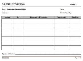 Staff Meeting Template by Meeting Minutes Template 16 Free Documents In