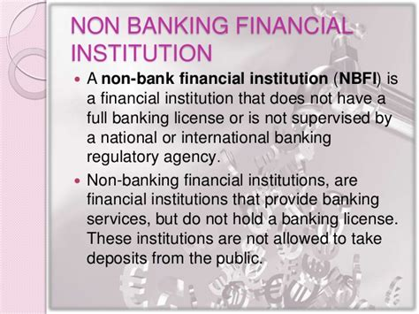 Difference Between Financial And Non Financial Letter Of Credit Non Banking Financial Institution