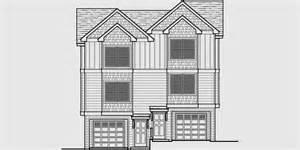 3 story duplex floor plans duplex house plans narrow lot duplex house plans d 544