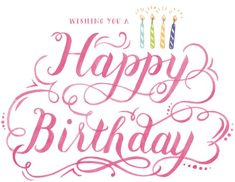 hand lettering design happy birthday happy birthday watercolor hand lettering on behance