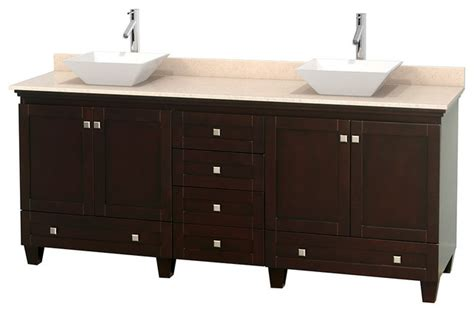 80 quot bathroom vanity in espresso ivory marble