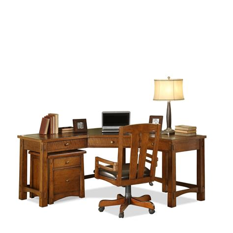 riverside home office corner desk 2930 hickory furniture - Home Office Corner Desk Furniture