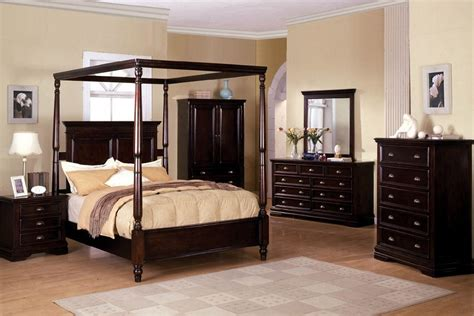 Espresso King Bed Frame Cal King Nautilus Espresso Wood Canpy Bed Frame