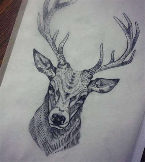 black and grey deer tattoo deer head tattoo tumblr www pixshark com images