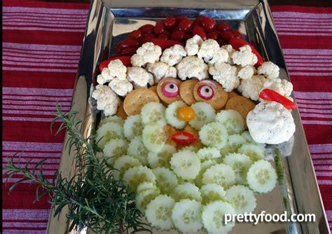 vegetable santa claus platter santa vegetable platter prettyfood