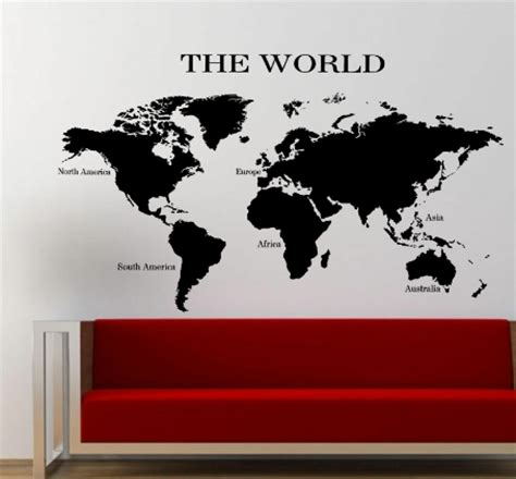 the world wall sticker the world map wall sticker planet earth decal v1