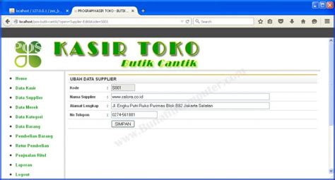 membuat website dengan php menggunakan dreamweaver sistem informasi penjualan pada butik cantik berbasis web
