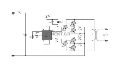 fungsi transistor 2n3055 pada inverter gt circuits gt ic 4047 2n3055 with pcb inverter 100w l20588 next gr