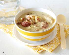 slow cooker potato soup cooking with ruthie