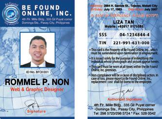 company id card template philippines id logo design layout creative design makati