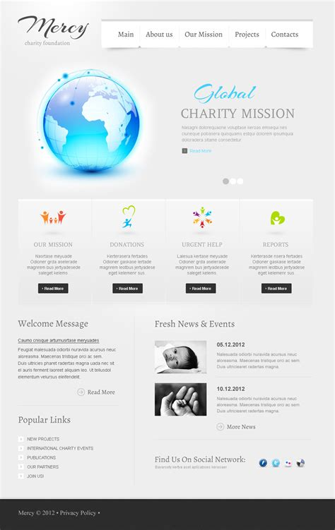 cms templates charity flash cms template 41776