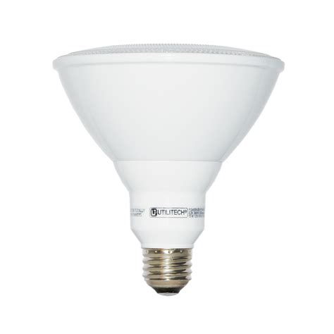 Led Light Bulbs Par38 Shop Utilitech 75 W Equivalent Warm White Par38 Led Flood Light Bulb At Lowes