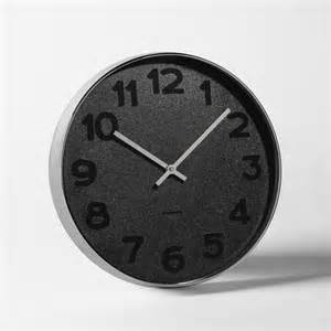 black wall clocks modern mrs black wall clock modern wall clocks by west elm