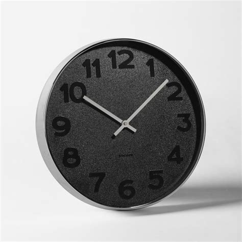 modern wall clocks mrs black wall clock modern wall clocks by west elm