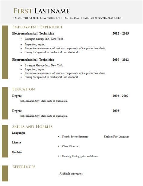 cv template doc free curriculum vitae templates doc format 618 624