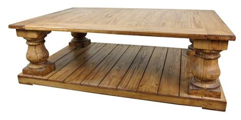large rustic pine coffee table tres amigos world imports