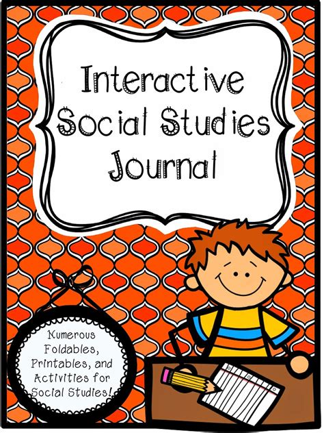 printable reading journal cover social studies interactive journal hillary s teaching