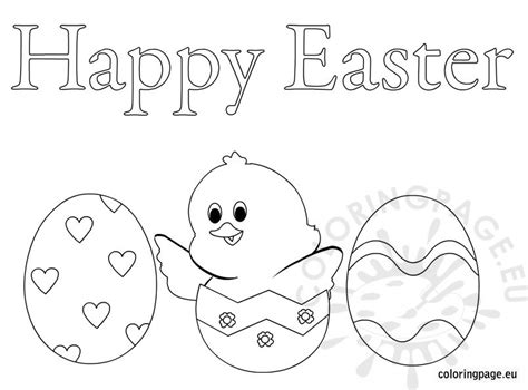 happy easter eggs coloring page