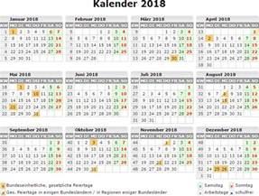 Kalender 2018 Schulferien Ausdrucken Kalender 2018 Zum Ausdrucken Kostenlos