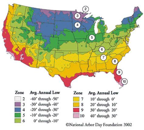 gardening zones usa white oak nursery plant hardiness zone map for hosta