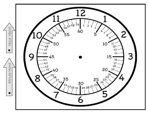 printable star clock free printable clock the sand box