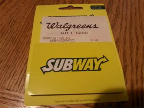 Subway Gift Cards Free - free 10 00 subway gift card gift cards listia com auctions for free stuff