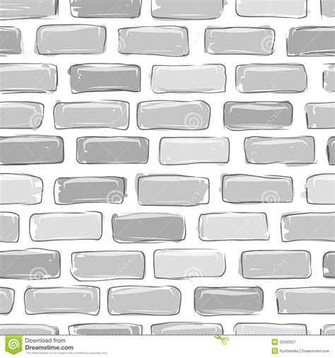 brick pattern sketch brick wall grey sketch for your design stock vector