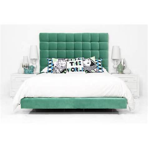 mint green bedding slub velvet orianna bed in mint