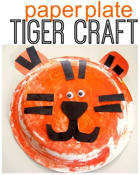 Tiger Paper Plate Craft - best 25 tiger crafts ideas on tigers for