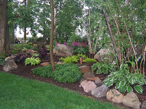 Shady Backyard Landscape Ideas 100 Hardwood Mulch Shade Gardens