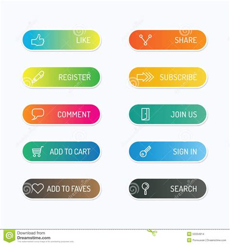 web layout options modern banner button with social icon design options