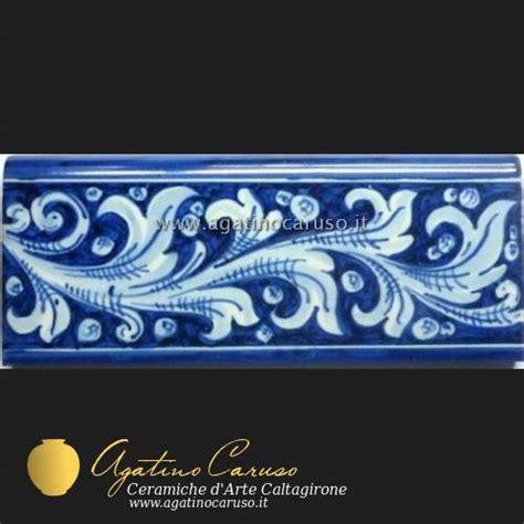 cornici in ceramica fasce e battiscopa h002 ceramiche di caltagirone agatino